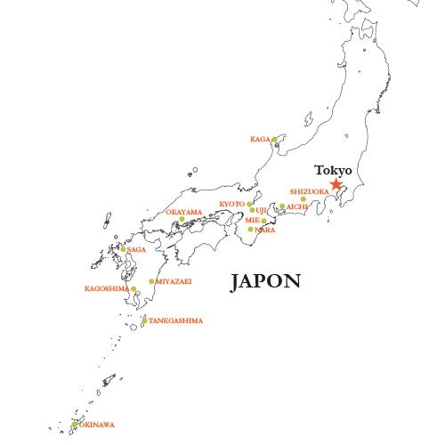 Jardins de thé du Japon