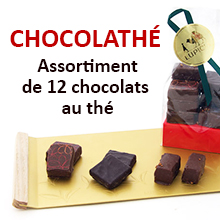 CHOCOLATHÉ. Assortiment de 12 chocolats au thé.