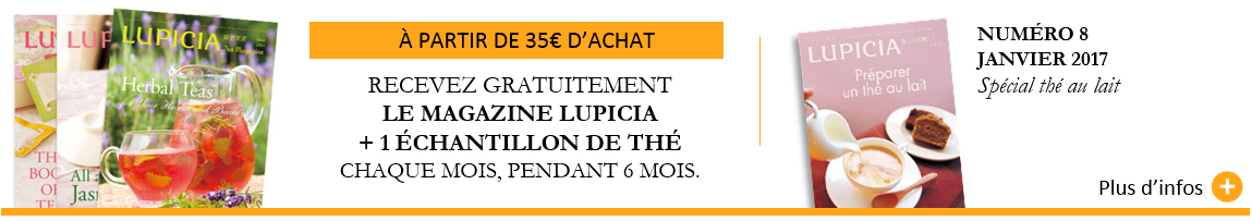 Magazine LUPICIA - Offert pendant 6 mois à partir de 35€ d'achat.