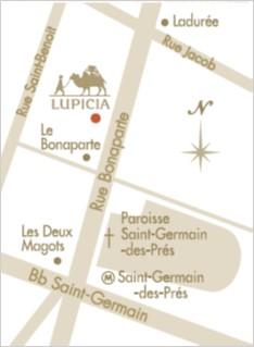 Plan d'accès Lupicia - Carte google Map